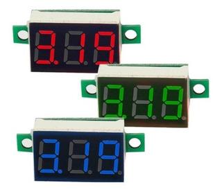 Voltímetro Digital 0-30v 3 Cables Arduino Pic Motos Carros