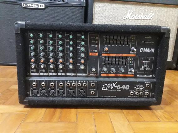 Mesa Amplificada Yamaha Emx 640 - Potência- Power Mixer