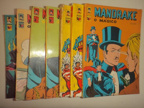 Lote Mandrake 21 25 27 28 29 Editora Saber 1971 Frete Gratis