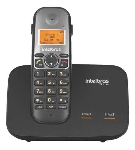 Telefone sem fio Intelbras TS 5150 preto