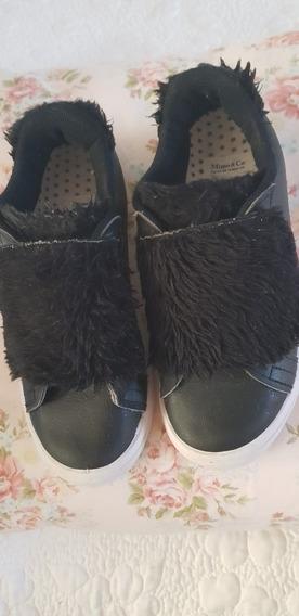 Zapatillas Negras Nena Mimo T33