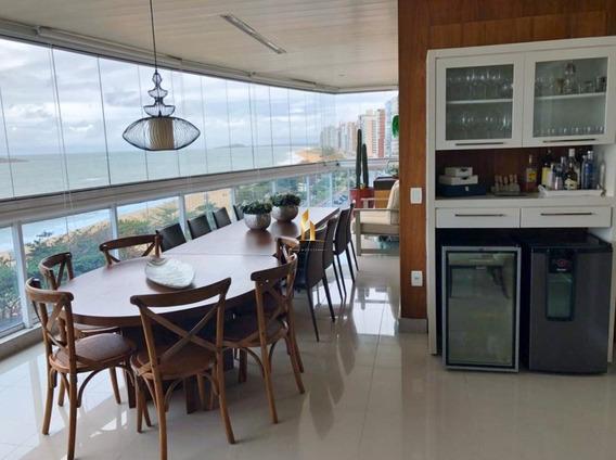 Apartamento 04 Quartos Alto Padrão Frente Ao Mar Na Praia De Itaparica. - 19532
