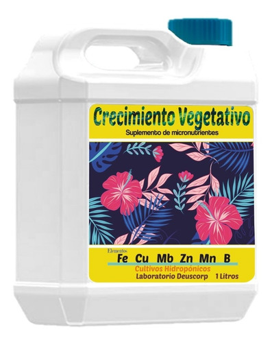 Imagen 1 de 2 de Crecimiento Vegetativo Hidroponía Minerales 1 Litro