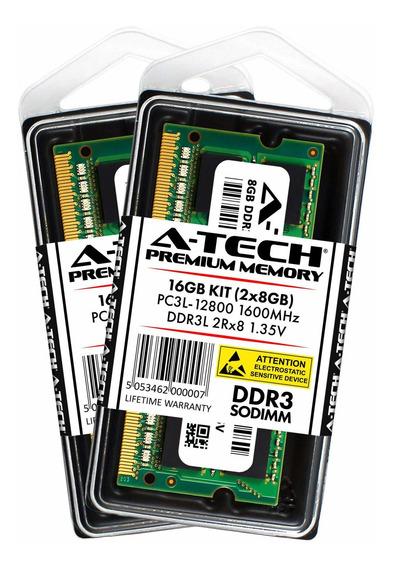 Memoria Ram 16gb (2x8gb) Ddr3 1600mhz Sodimm A-tech