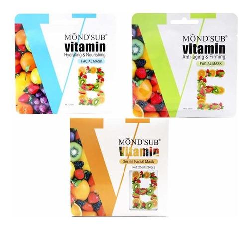 12 Mascarilla Faciale Hidratante Vitamina B /vitamina E 25ml