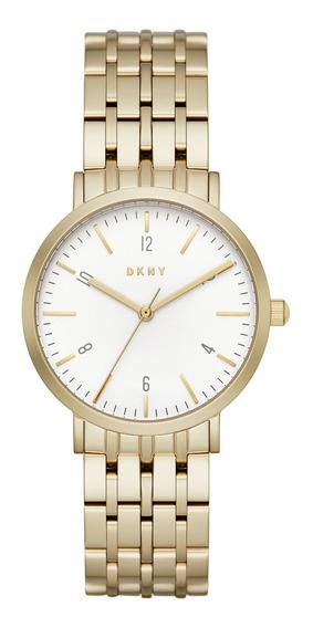 Reloj Dama Dkny Ny2503 Color Dorado De Acero