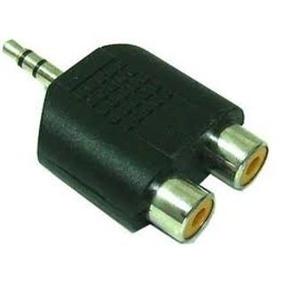 Adaptador Plug 3,5 Stereo - 2 Jack Rca Audio Tv Auricular