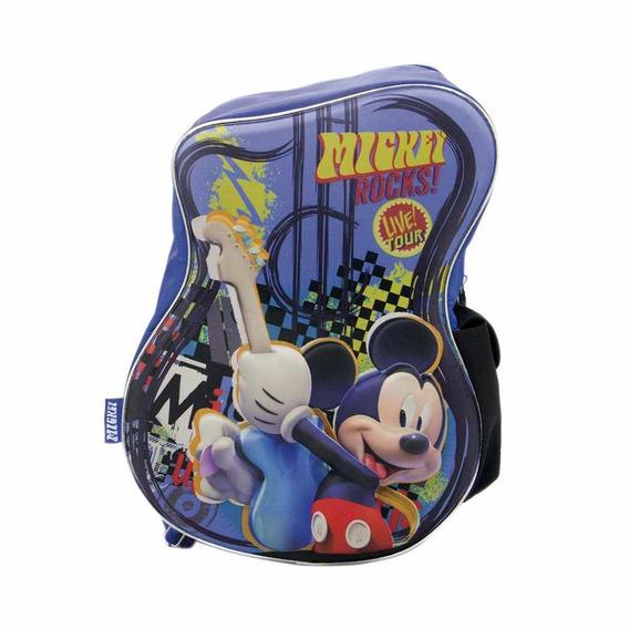 Mochila Mickey Guitarra Cresko 15 Pulgadas Espalda Jardin