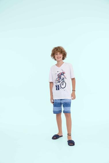 Pijama Masculino Infantil Algodão Aventura - Ref. 13140
