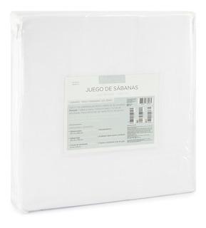 Juego Sabanas Individuales - Begônia - Blancas Lisas Con Bordado Y De Microfibra