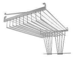 Varal Mazzonetto 150cm X 10 Varetas Alumínio Polido