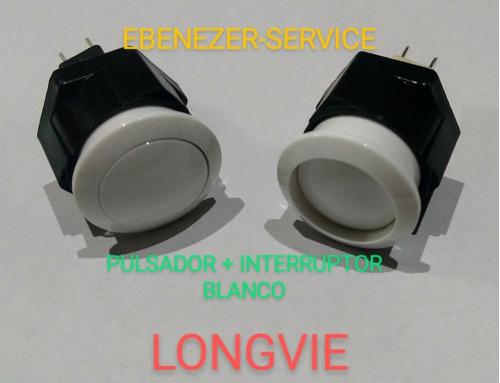 Imagen 1 de 2 de Kit Interruptor Luz + Pulsador Chispa Blanco Cocinas Longvie