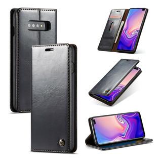Capa Caseme Galaxy S10 Plus Flip Magnética Couro Premium