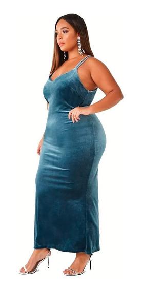 Vestido Largo Velvet Terciopelo Forever 21 Plus Size 2x 3x