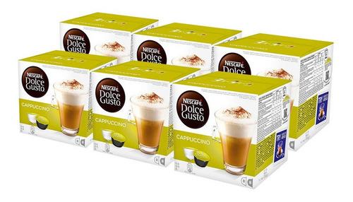 Imagen 1 de 4 de Nescafe Dolce Gusto Cafe Cappuccino 16 Capsulas X 6 Unidades