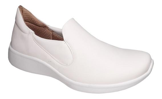 Tenis Branco Feminino Para Enfermagem Leve Macio Piccadilly
