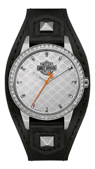 Reloj Harley Davidson By Bulova Piel Dama 76l183 Shaped Cuff