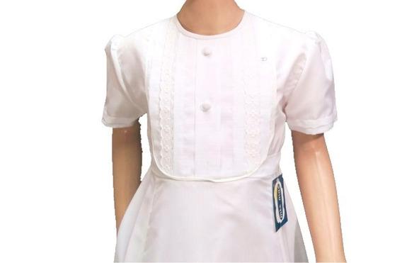 Vestido Comunion Botones Pechera Nena 005 Childrens