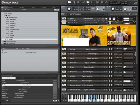 Kit Os Africanos Para Kontakt Aylan Samples