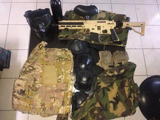 Equipo De Gotcha Completo Rifle Usado 2 Veces Traje Nuevecit