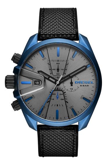 Relógio Diesel Maravilhoso Masculino Azul Dz4506 Na Caixa