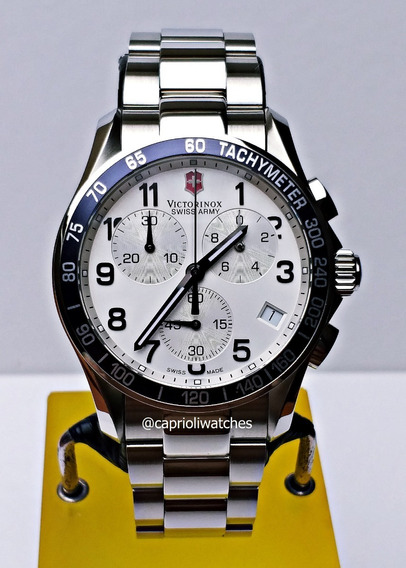 Relógio Victorinox Classic 241121 Chrono Novo E Completo