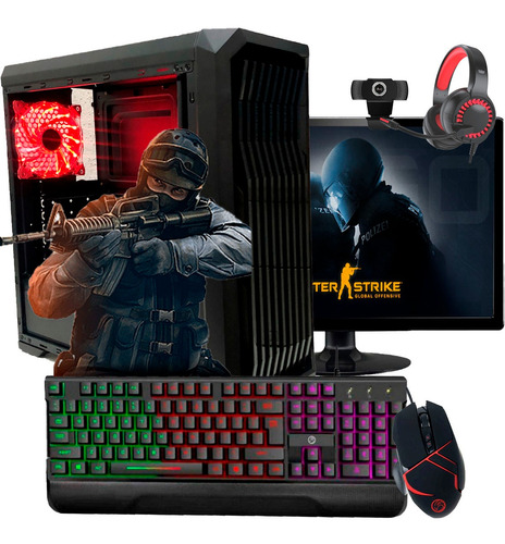 Imagem 1 de 4 de Pc Gamer Completo I5 8gb Ssd 120 Placa De Video Monitor