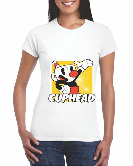 Cup Head 2 Game Envío Gratis Dama Ht-tshirt