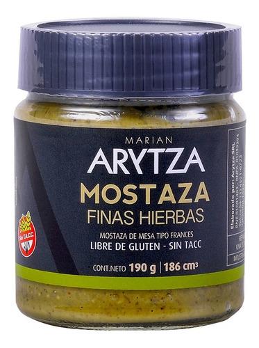 Mostaza Gourmet Arytza Finas Hierbas - 100% Natural Sin Tacc