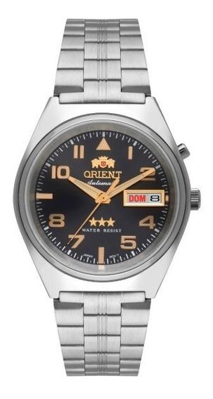 Relógio Orient Masculino Automático Aço Cinza35982