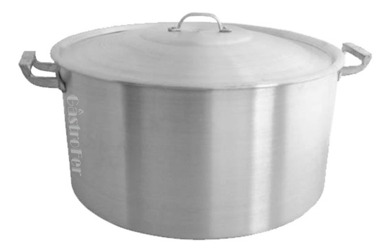 Cacerola De Aluminio N° 50 Gastronomica Capacidad 50 Litros