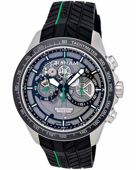Relógio Graham Silverstone Rs Skeleton Chronografo Original