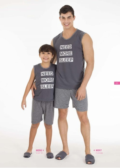 Pijama Masculino Infantil Regata