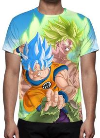 Camiseta, Camisa Dragon Ball Super Goku Vs Broly - Promoção