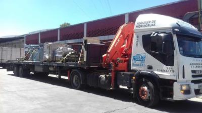 Camión Semirremolque Con Hidrogrúa