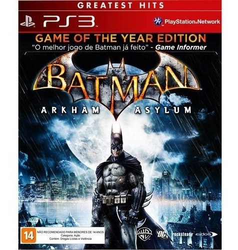 Jogo Batman Arkham Asylum Ps3 Midia Fisica