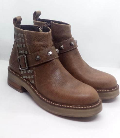 Botas Mujer Bajas Cuero Zuca Art 1238 Zona Zapatos