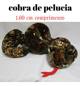 Pelúcia Cobra 1.60 Cm Diferente Muito Linda