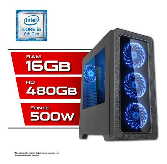 Pc Gamer Intel Core I5 8ª Geração 16gb Ssd 480gb