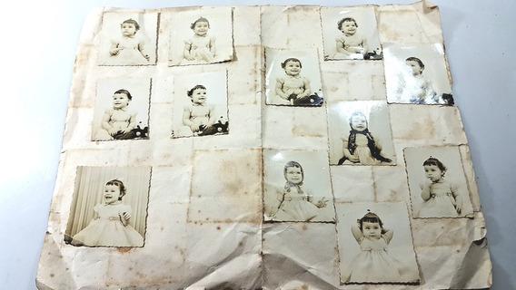 Antigo Estudo De Fotografias De Criança Para Poster, Anos 50
