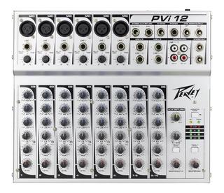 Peavey Consola Mezclador Mixer Pvi 12 Canales Musicapilar