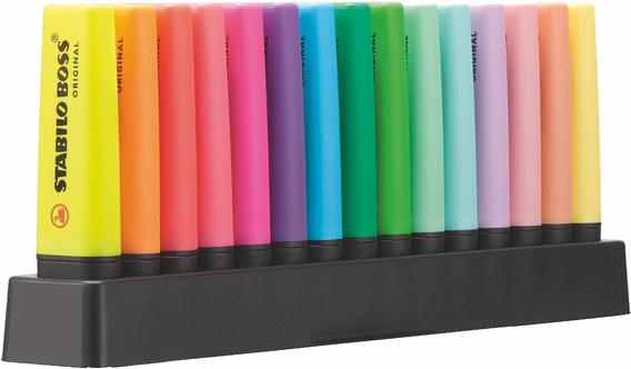Marca Texto Stabilo Boss Fluorescente+pastel Kit 15 Unidades