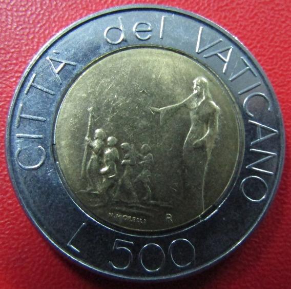 Vaticano Moneda Bimetalica Juan Pablo I I 500 Liras 1991 Unc