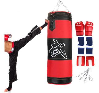 80 Cm De Boxeo Saco De Arena Kit Saco De Boxeo Guantes De Bo