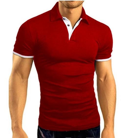 Camisa Camiseta Polo Masculina Slim Fit Alto Padrão Luxo