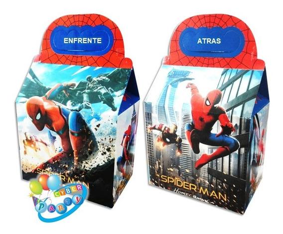 Spiderman 50 Cajas Dulceras Fiesta Hombre Araña Bolo