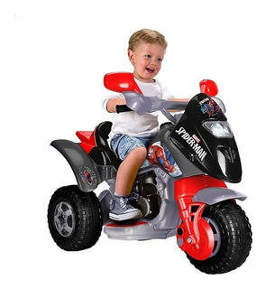 Moto Electrica Montable De Niños Feber Spiderman Trimoto 6v