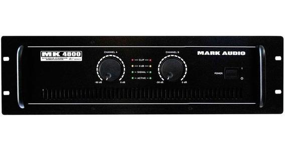 Amplificador Potência Mark Audio Mk 4800 800wrms Mk4800