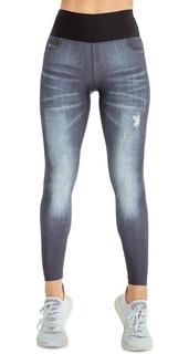 Calça Legging Jeans Reversible Discover - Jeans Claro - Live