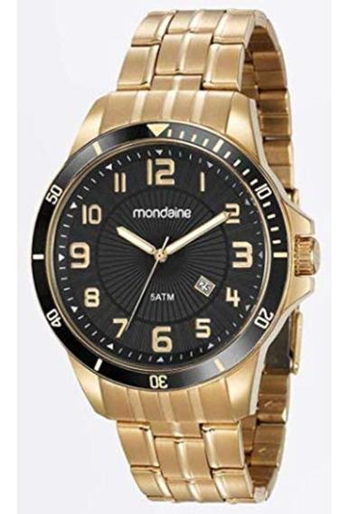 Relógio Masculino Mondaine Dourado 78761gpmvda2